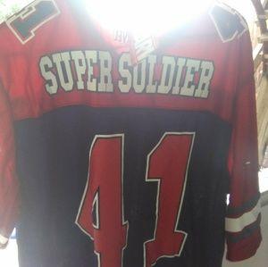 Captain America marvel super soldier jersey